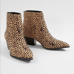 Cheetah Print Ankle Booties